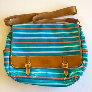 FOSSIL messenger cross body bag fits laptop